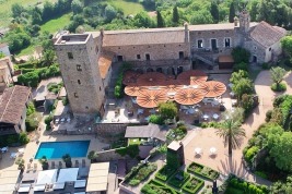 The exterior of Castell d'Empordà in Spain.