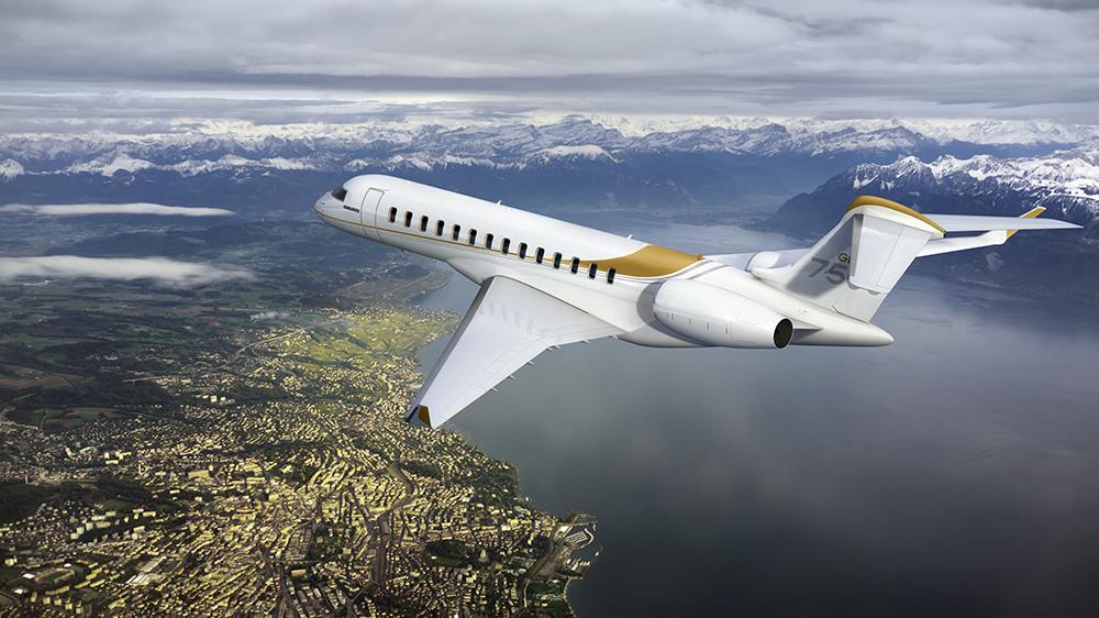 Bombardier Global 7500 long-range business jet private aviation