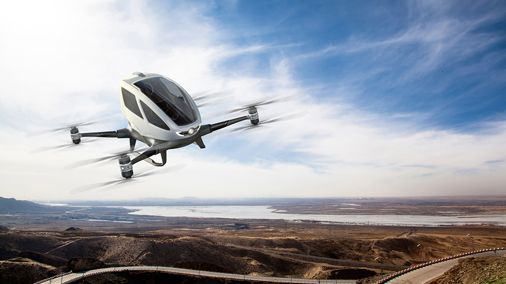 The world's first electric, personal Autonomous Aerial Vehicle (AAV) - EHang 184