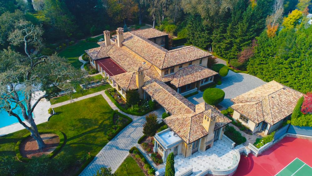 A birds-eye view of Villa La Sosta.