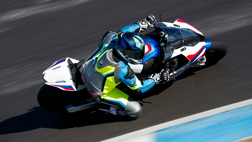 The 2020 BMW S 1000 RR M Sport takes on a MotoGP track in Spain.