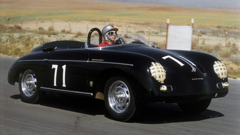Steve McQueen and his Porsche