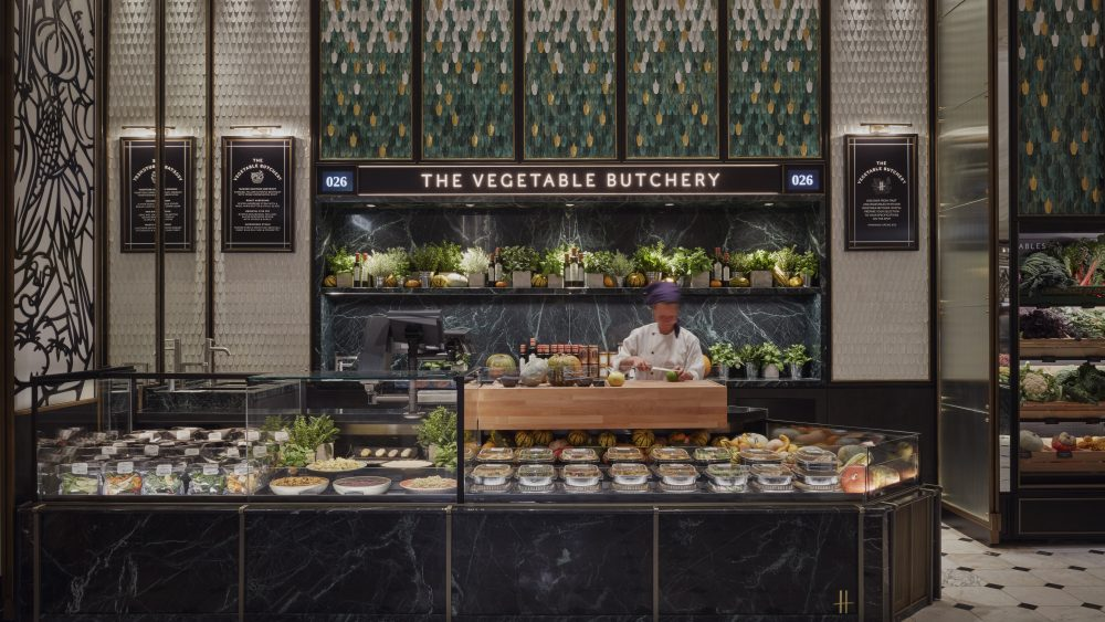 Harrods Fresh Market Hall Vegetable Butchery