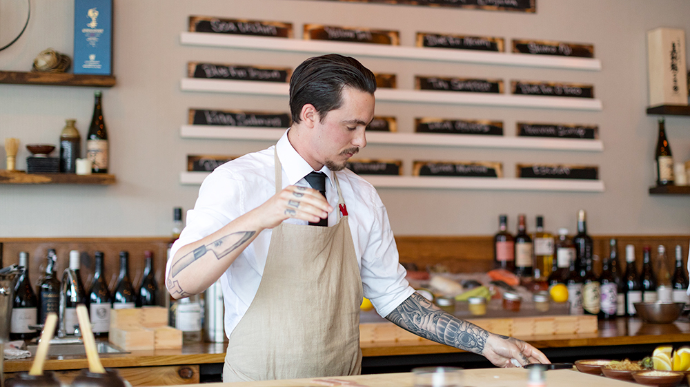 Sushi Bar's head chef Lennon Lee