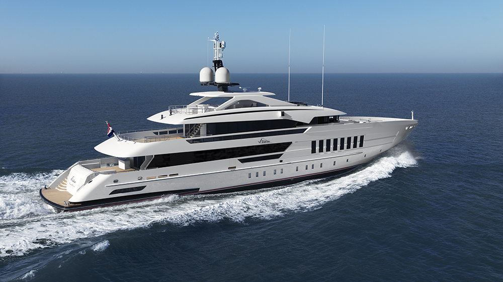 Heesen Yachts Vida superyacht FDHF hull fast displacement hull form efficient