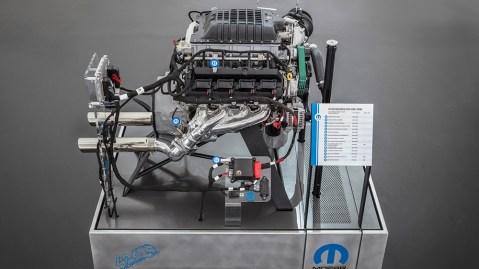 The Hellephant 426 Supercharged Mopar Crate HEMI® Engine is a Mopar-first for a 1,000-horsepower crate engine kit offered by an Original Equipment Manufacturer (OEM).