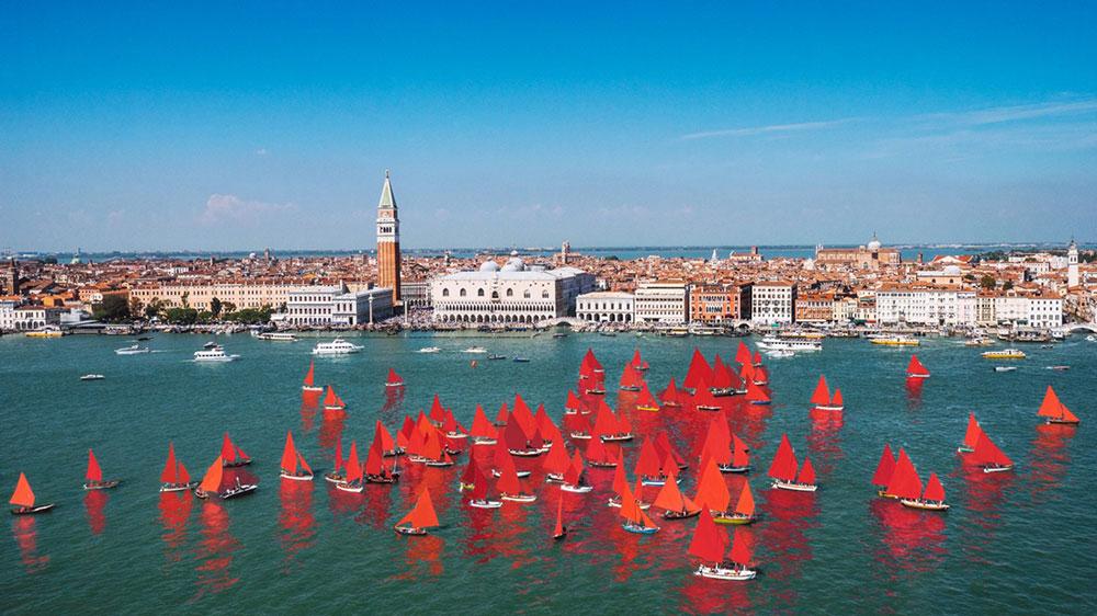 Melissa McGill's Red Regatta Venice Biennale Italy