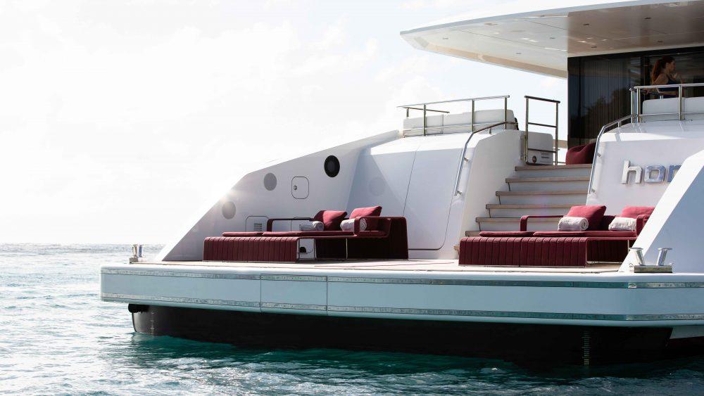 Heesen's sleek and silent hybrid superyacht Home.