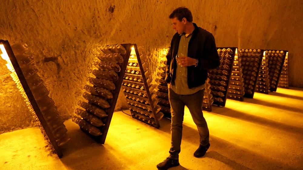 Jonathan Atherton at Maison Ruinart champagne