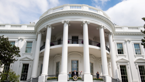 The White House on the annual Easter Egg Roll