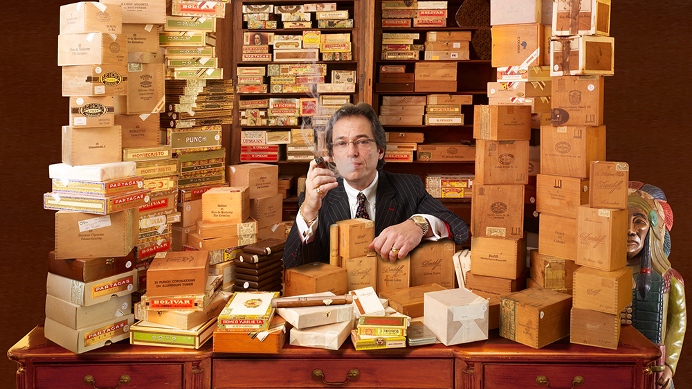 Cigar connoisseur and managing director of C.Gars Ltd Mitchell Orchant