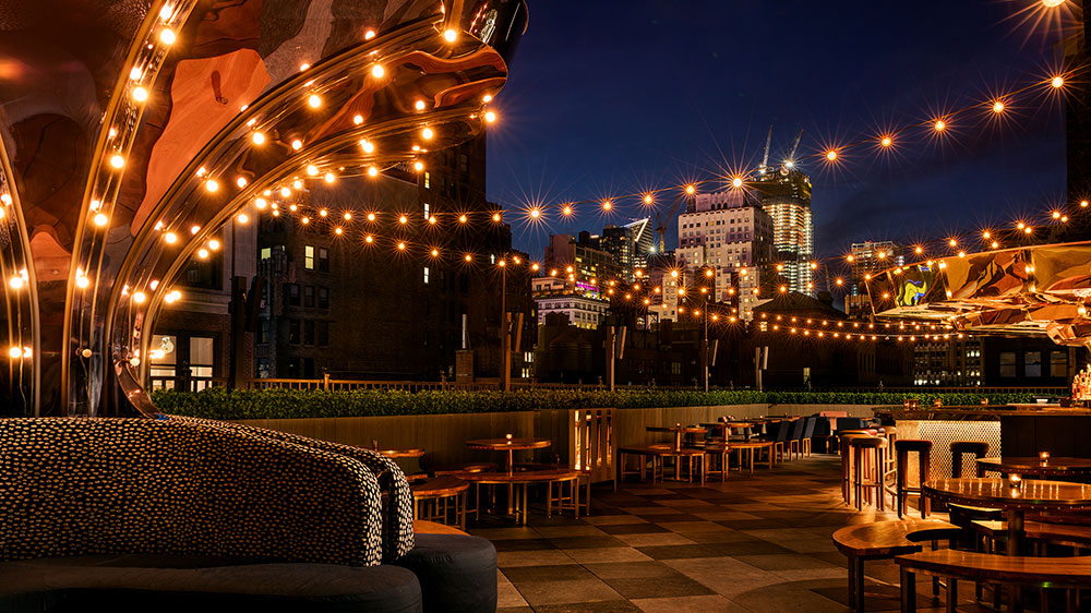 Magic Hour Rooftop Bar and Lounge at Moxy NYC Times Square Hotel