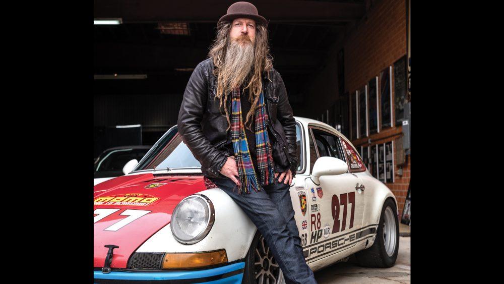 Magnus Walker with his prized 1971 Porsche 911 T
