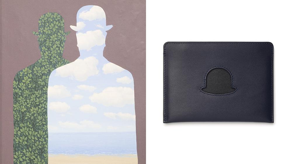 Delvaux's new collaboration with the Magritte Foundation sees the company making more leather goods for men