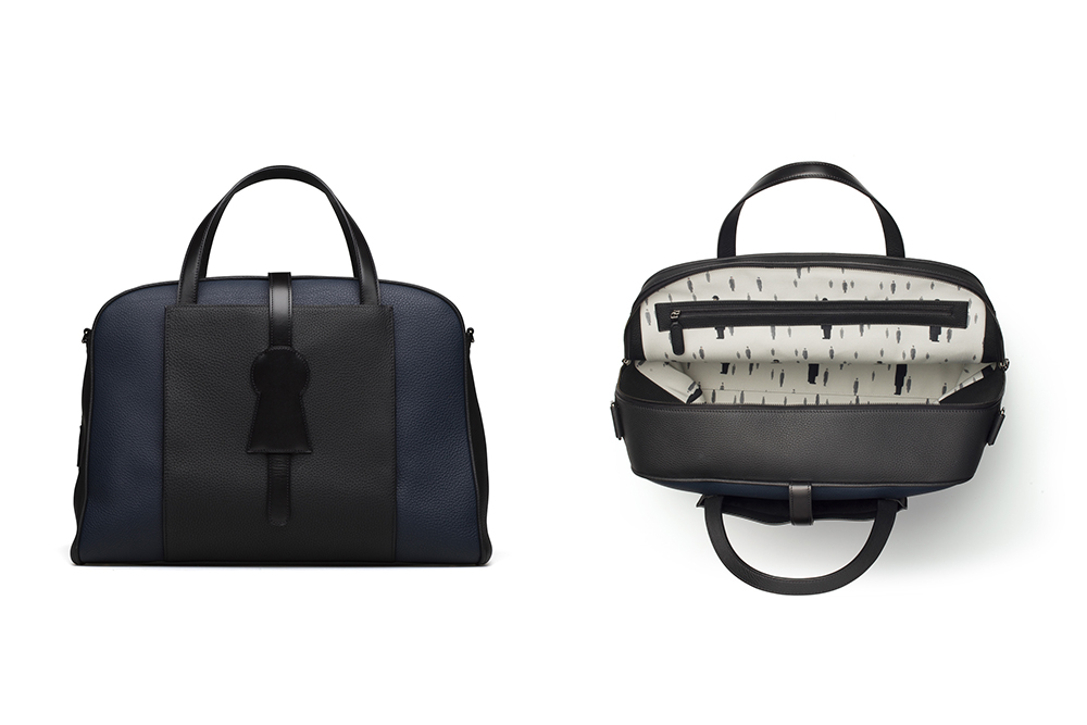 Delvaux's new collaboration with the Magritte Foundation includes its first travel bag, called the D-Off.