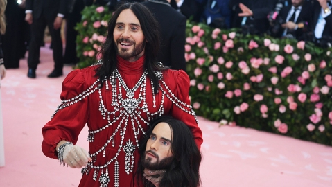 Jared LetoCostume Institute Benefit celebrating the opening of Camp: Notes on Fashion, Arrivals, The Metropolitan Museum of Art, New York, USA - 06 May 2019