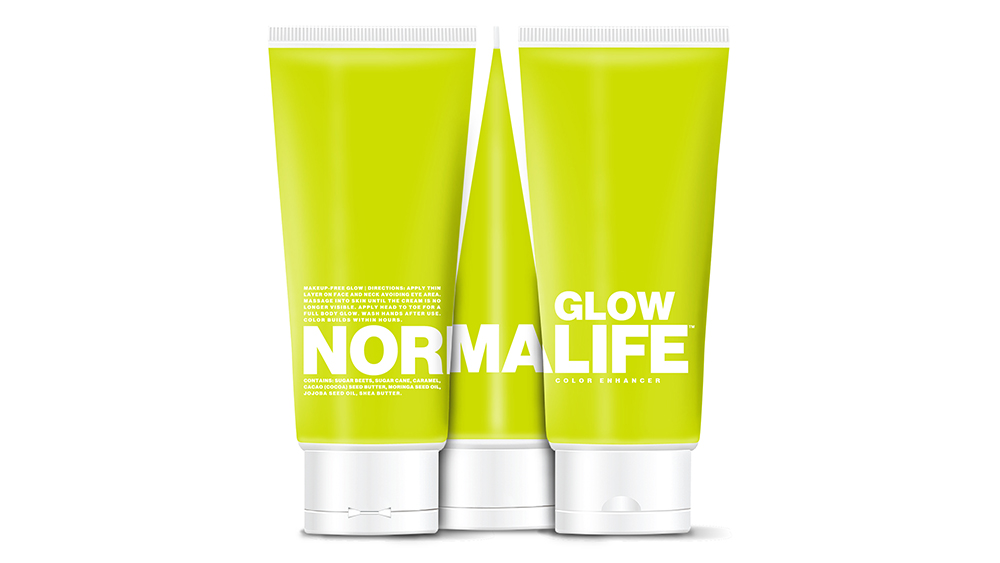 "NORMALIFE's ""Glow"" color enhancer."