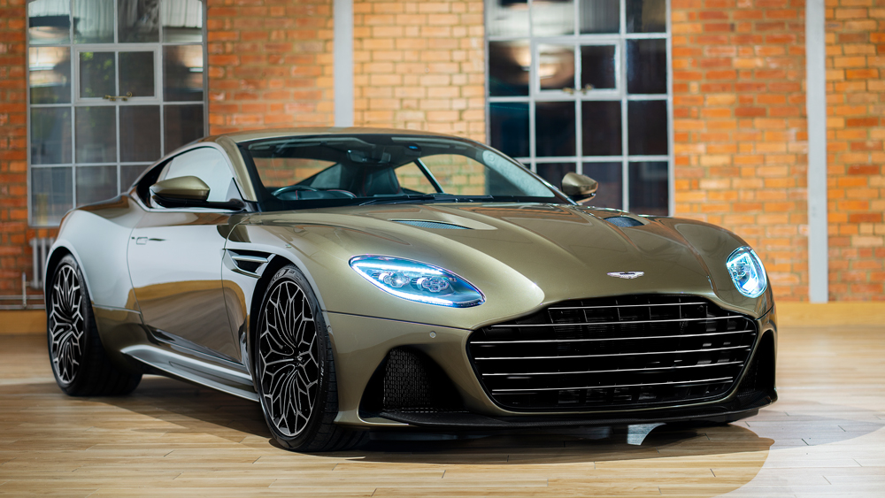 The limited-edition DBS Superlegerra features brightwork done in homage to the 1969 Bond DBS.