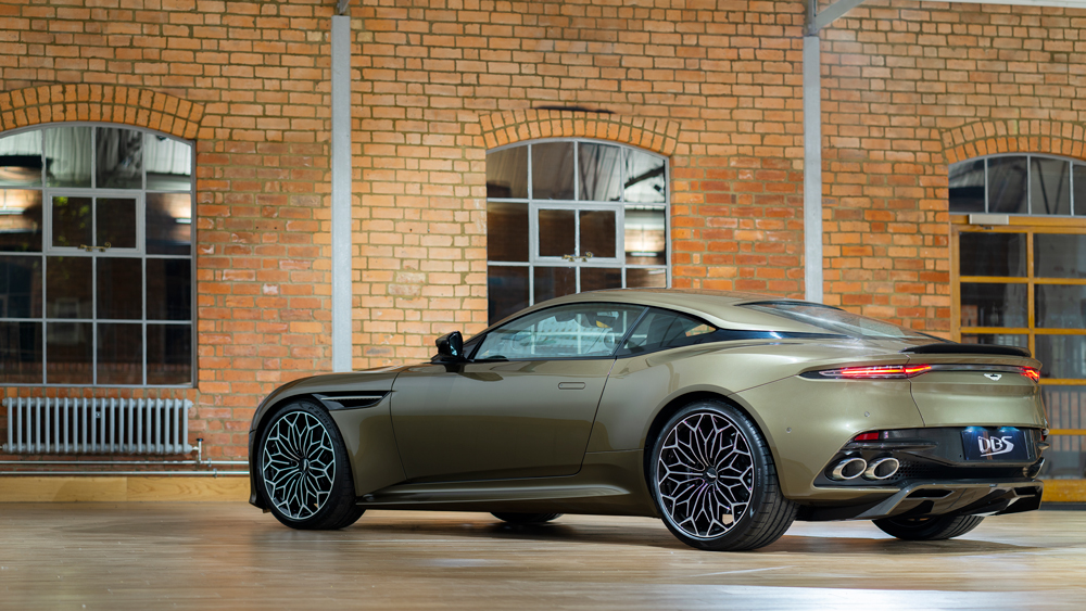 The covert coupe carries a 715 hp, 5.2-liter twin-turbocharged V-12.