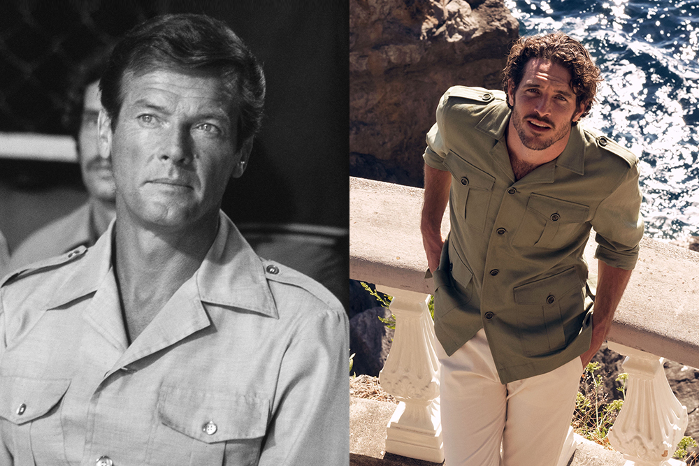 Orlebar Brown's new James Bond collaboration re-creates the safari jacket Roger Moore wore in 1974's 'The Man with the Golden Gun.'