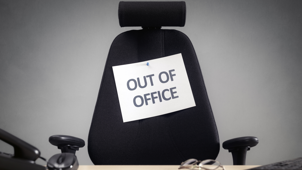 Out-of-office notifications can set boundaries as to when you're available via email.