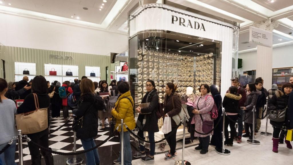 A Prada store in London