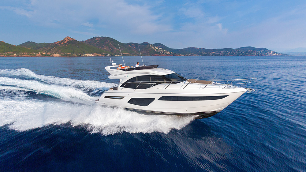 Princess Yachts F50 flybridge yacht UK British