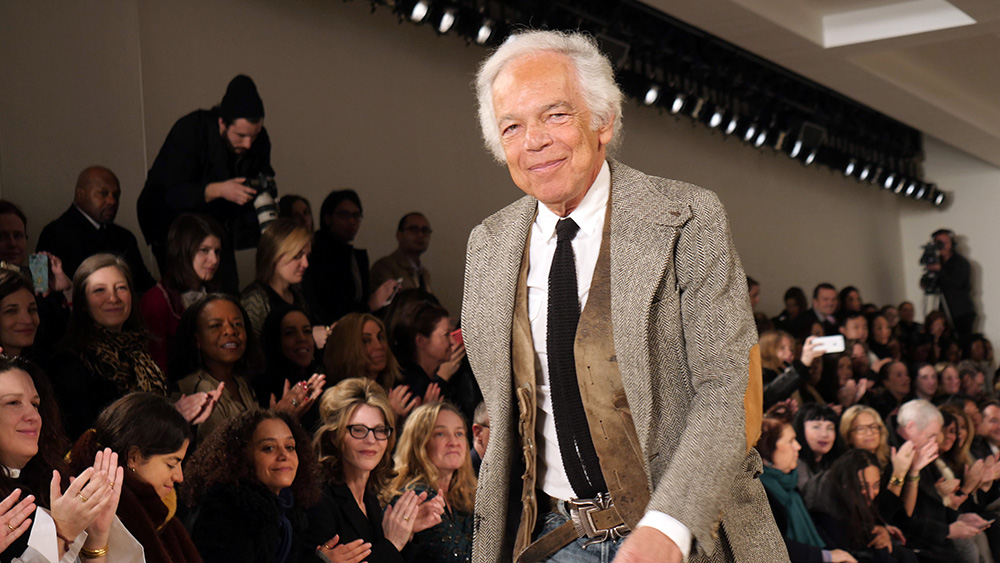 Ralph Lauren on the catwalk at the Ralph Lauren Collection show, Fall Winter 2016, New York Fashion Week, America