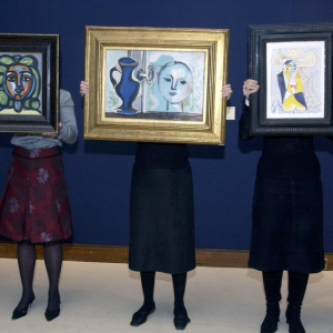 Various works by Pablo Picasso that sold at Christie's in London in 2005.