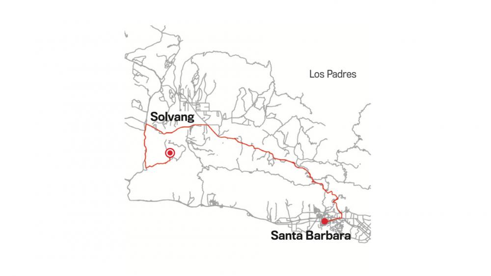 SAN MARCOS PASS: SANTA BARBARA TO SOLVANG