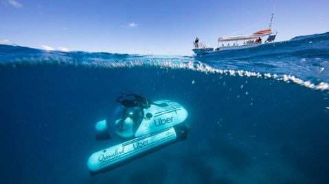scUber personal submersible in Australia's Great Barrier Reef