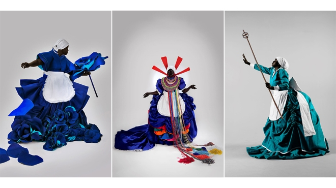 Mary Sibande Art I Have, I Have Not, 2010; Her Majesty, Queen Sophie, 2010; I Put a Spell on Me, 2009.
