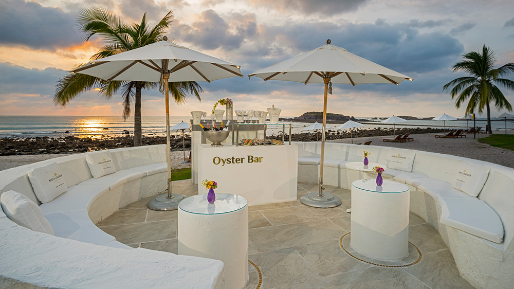 The Champagne & Oysters Bar at the St. Regis Punta Mita Resort