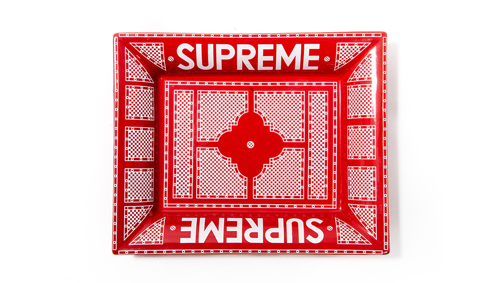 The Supreme auction at Sotheby's includes 1,300 lots, including this Supreme x Hermes ashtray.