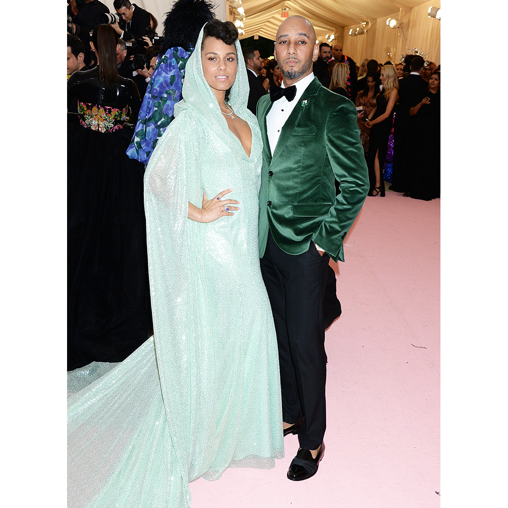 Swizz Beats and Alicia Keys at the 2019 Met Gala