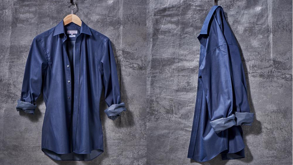 Robb Report's Best Shirt 2019, Turnbull & Asser Deep Indigo Cotton and Cashmere Shirt
