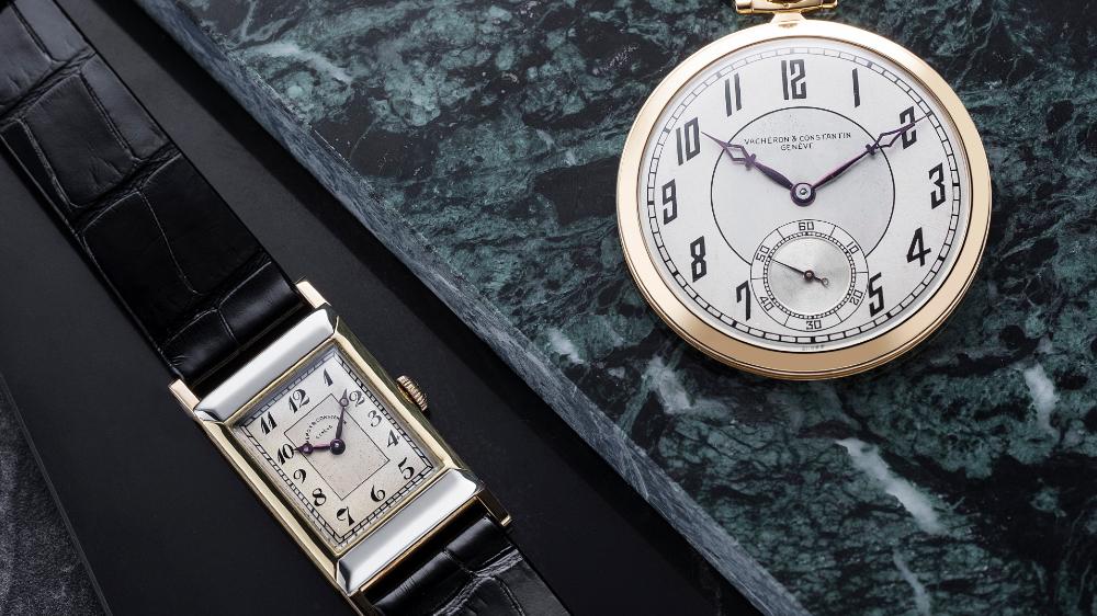 A Vacheron Constantin watch and pocket watch