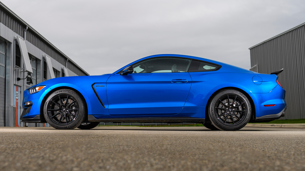 The new Michelin Pilot Sport Cup 2 tires feature a tread pattern and compound specific to the GT350.