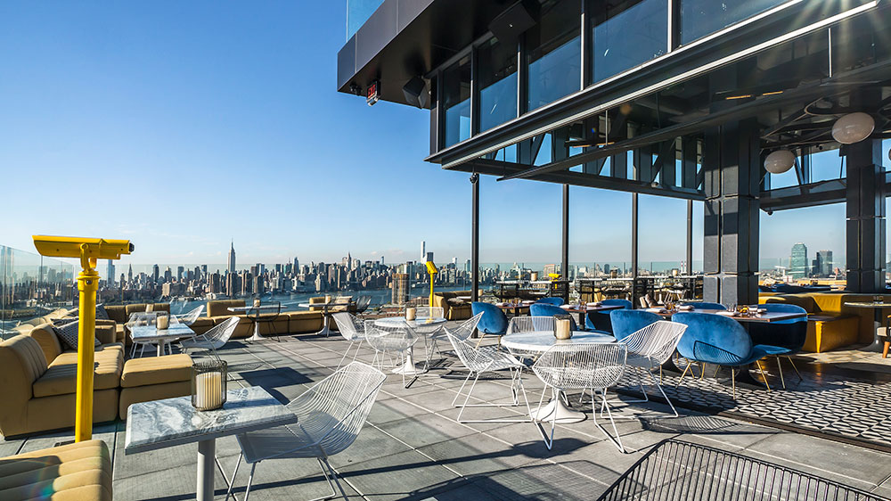 Westlight rooftop bar at the William Vale hotel in Brooklyn