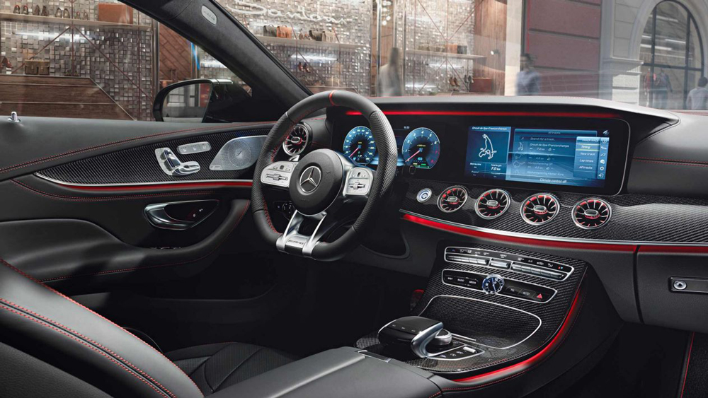 The interior of the Merdeces-AMG 53 Series.