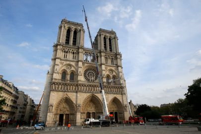 Notre Dame after fire in April 2019