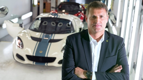 Phil Popham CEO of LotusPhil Popham CEO of Lotus at their production line, Norwich, UK - 08 May 2019
