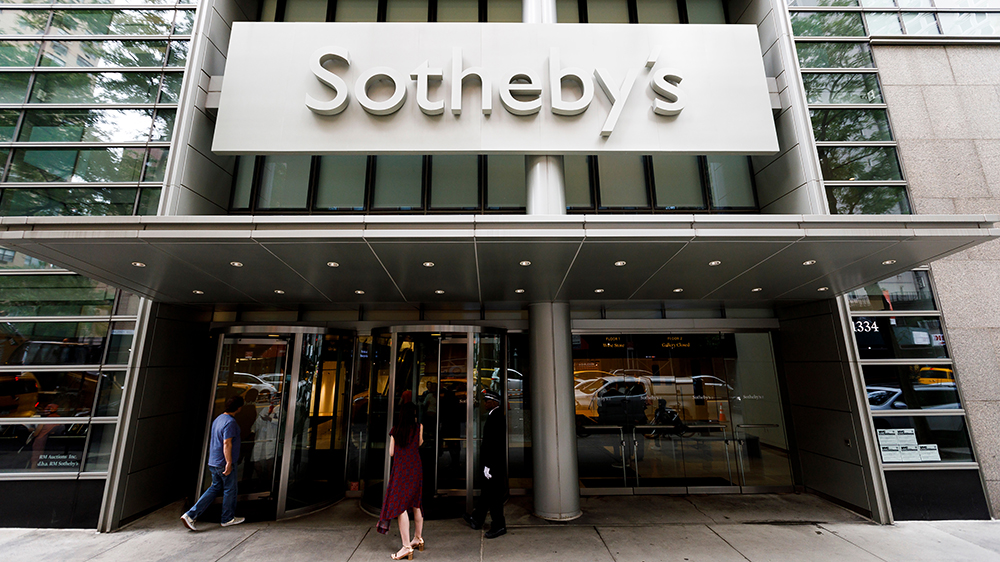 A view of Sotheby's offices in New York, New York, USA, 17 June 2019. The auction house announced on 17 June that it will purchased by telecommunications entrepreneur Patrick Drahi in a deal reported to be worth $3.7 billion (USD).Sotheby's to be purchased and taken private, New York, USA - 17 Jun 2019