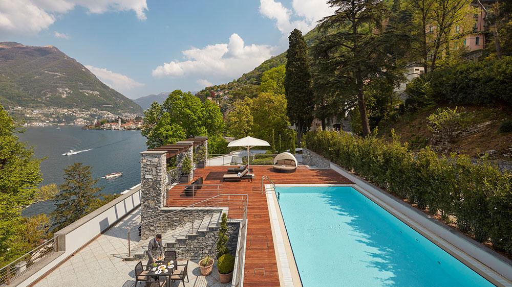 The Presidential Suite terrace at Mandarin Oriental, Lago di Como