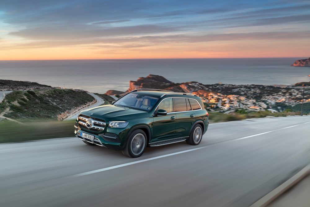 Mercedes-Benz's newest version of its full-size GLS SUV.