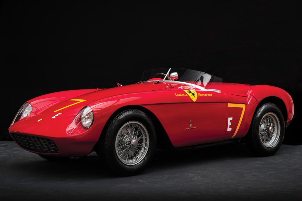 A 1954 Ferrari 500 Mondial Spider by Pinin Farina.