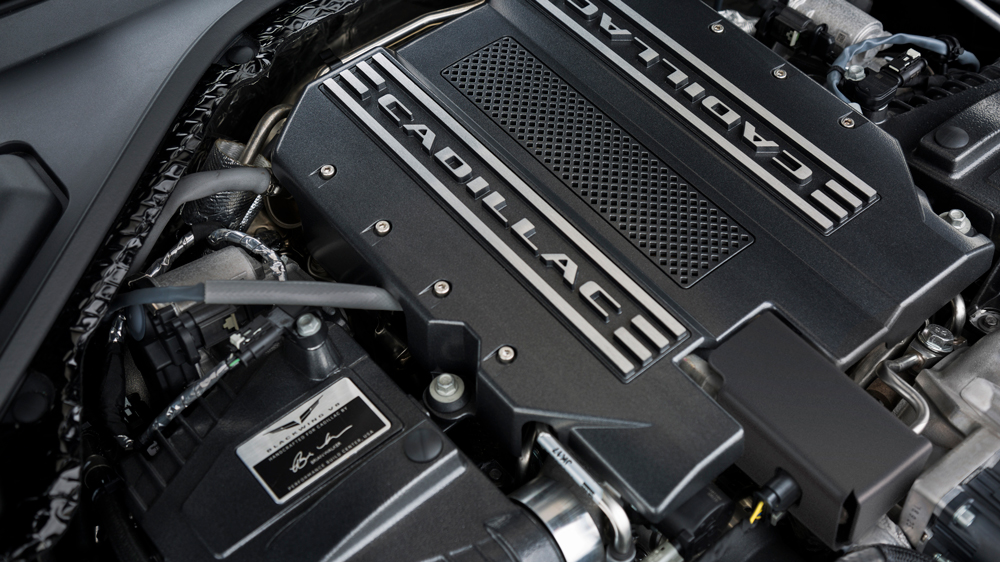The Blackwing 4.2-liter twin-turbocharged V-8.