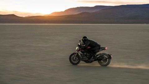 The Zero SR/F electric motorcycle.