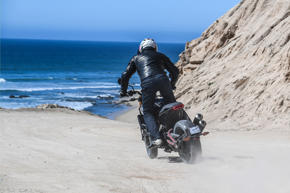 The Indian FTR1200 S being tested in Baja.