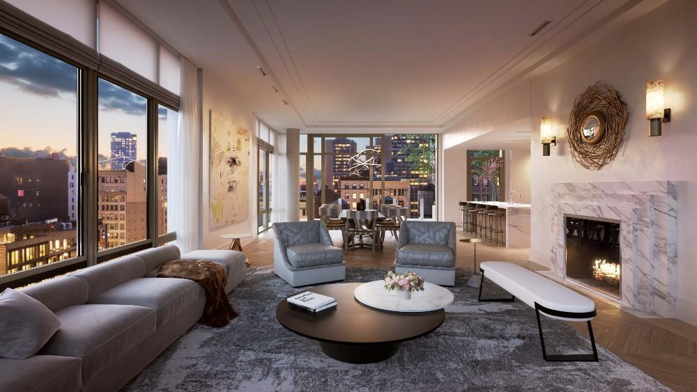 The Ryan Korban-designed interior of 40 Bleecker